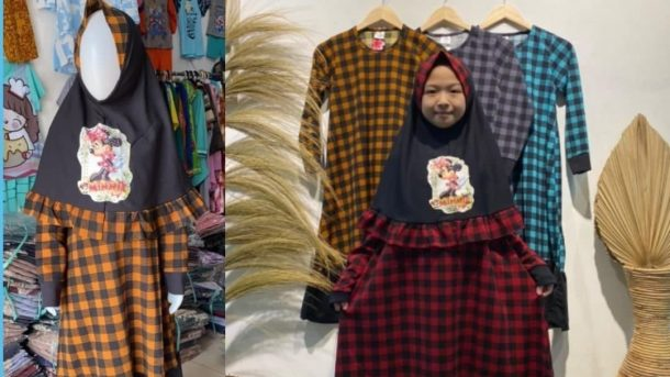 Pusat Grosir Cimahi Konveksi Gamis Tie Dye Anak Murah di Bandung