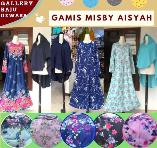 PUSAT GROSIR PAKAIAN MURAH CIMAHI BANDUNG Grosir Gamis Misby Aisyah di Bandung Rp 66000