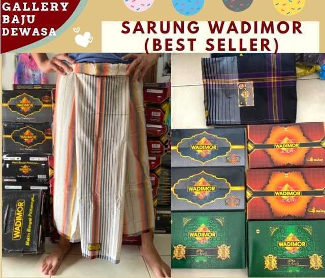 PUSAT GROSIR PAKAIAN MURAH CIMAHI BANDUNG Distributor Sarung Wadimor Original di Bandung Rp 47000